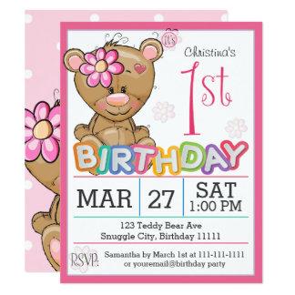 de 1st Uitnodiging van de Teddybeer van de Partij