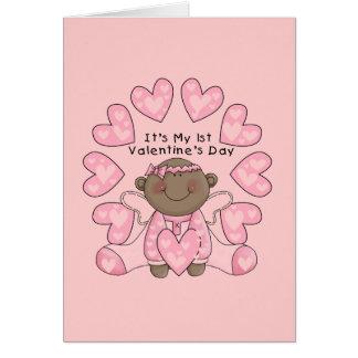 De 1st Valentijnskaarten van het meisje - Briefkaarten 0