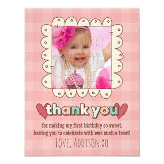 de 1st Verjaardag Cupcakes dankt u kaardt Kaart