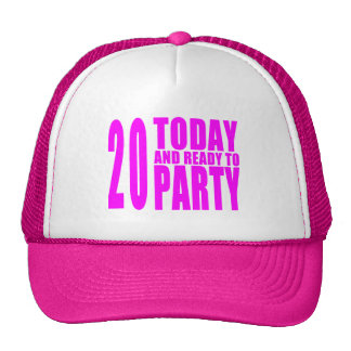 De 20ste Verjaardagen van meisjes: 20 vandaag & Mesh Petten