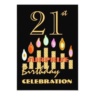 de 21ste Gouden Kaarsen van de Partij van de 12,7x17,8 Uitnodiging Kaart