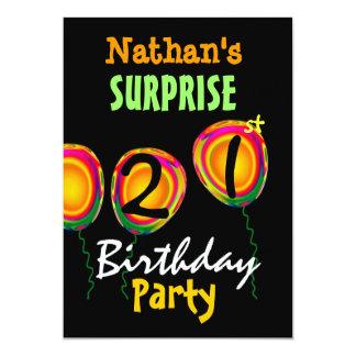 de 21ste Uitnodiging van de Ballons van de Partij