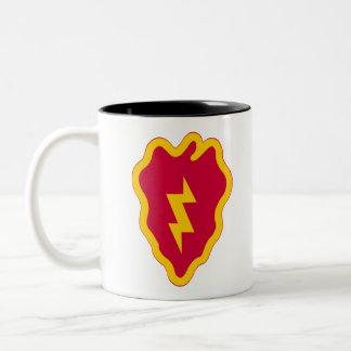 de 25ste Afdeling van de Infanterie Tweekleurige Koffiemok