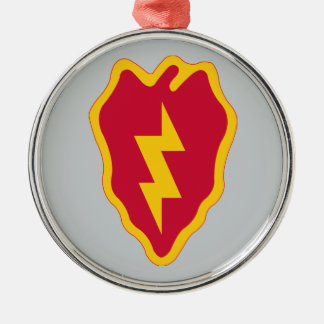 de 25ste Afdeling van de Infanterie Zilverkleurig Rond Ornament
