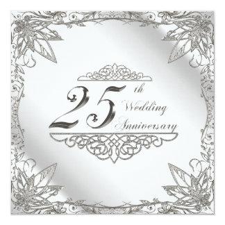 de 25ste Kaart van de Uitnodiging van de Verjaarda