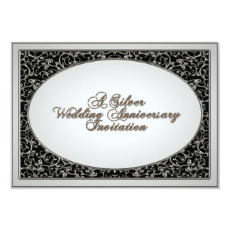 de 25ste van het Huwelijk van de Verjaardag Kaart  Persoonlijke Aankondiging