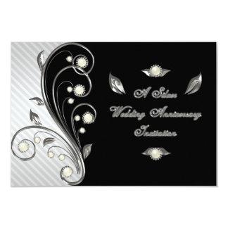 de 25ste van het Huwelijk van de Verjaardag Kaart  Persoonlijke Uitnodigingen