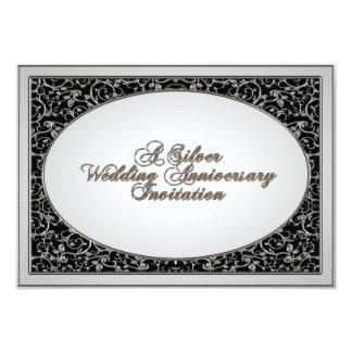 de 25ste van het Huwelijk van het Jubileum Kaart 8,9x12,7 Uitnodiging Kaart