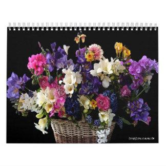 De 2-pagina van de douane BloemenKalenders Kalender