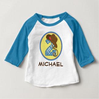 de 2de Cowboy van de Verjaardag ben ik het 2 Baby T Shirts