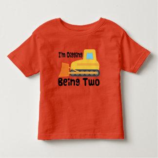 de 2de Peuter van de Vrachtwagen van de Bouw van Kinder Shirts