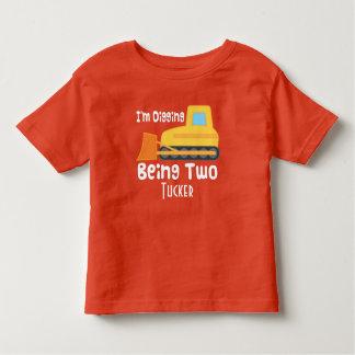 de 2de T-shirt van de Bouw van de Bulldozer van de