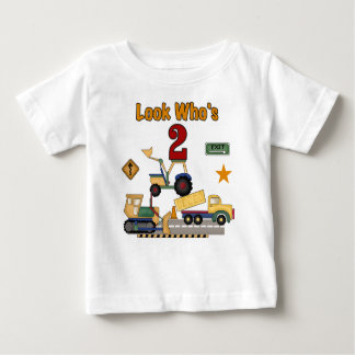 De 2de Verjaardag van de bouw Baby T Shirts