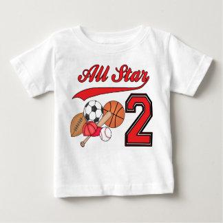 De 2de Verjaardag van de Sporten van All Star Baby T Shirts