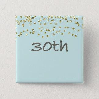 de 30ste Confettien van de Verjaardag Vierkante Button 5,1 Cm