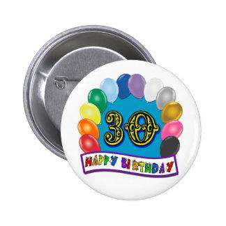de 30ste Giften van de Verjaardag met het Geassort Button