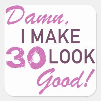 de 30ste Humor van de Verjaardag Vierkante Sticker