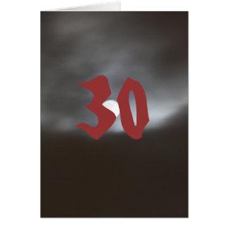 de 30ste Kaart van de Verjaardag