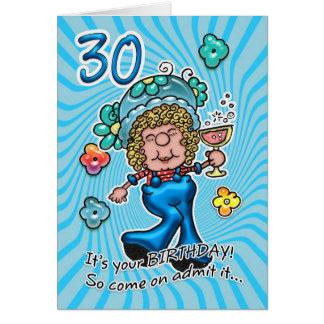 de 30ste Kaart van de Verjaardag - de Dame van de