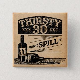 de 30ste Knoop van de Verjaardag Vierkante Button 5,1 Cm