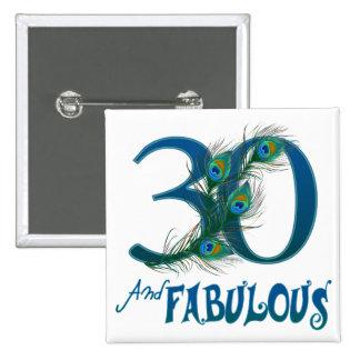de 30ste Knopen van de Verjaardag Speld Buttons