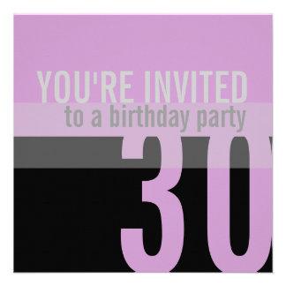 de 30ste {Paarse} Uitnodigingen van de Partij van