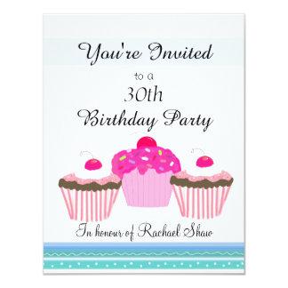 de 30ste Partij van de Verjaardag 10,8x13,9 Uitnodiging Kaart