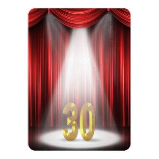 de 30ste Partij van de Verjaardag nodigt uit 11,4x15,9 Uitnodiging Kaart