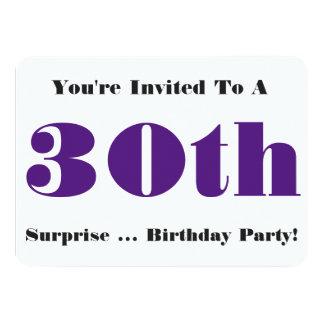 de 30ste partij van de Verjaardag van de 11,4x15,9 Uitnodiging Kaart