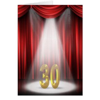 de 30ste Schijnwerper van de Verjaardag Wenskaart