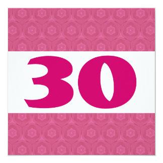 de 30ste Sterren van de Partij van de Verjaardag F Gepersonaliseerde Uitnodiging