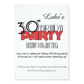 de 30ste Uitnodiging van de Verjaardag