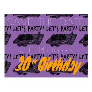 de 30ste Verjaardag jaren '60 laten we Partij Briefkaart