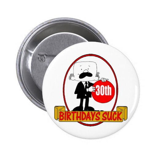 de 30ste Verjaardag zuigt Giften Button