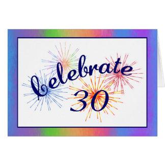 de 30ste Viering van de Verjaardag Wenskaart