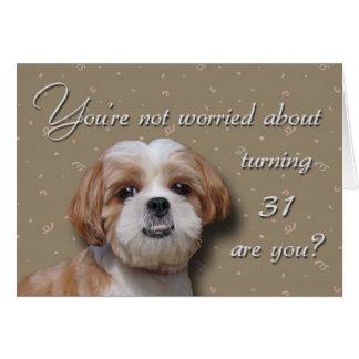 de 31ste Hond van de Verjaardag Briefkaarten 0