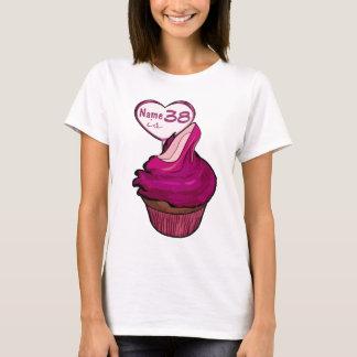 de 38ste T-shirts van Cupcake van de Verjaardag