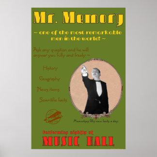 De 39 Stappen: Het Poster van M. Memory Advertizin