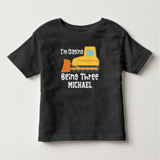 de 3de T-shirt van de Vrachtwagen van de Bouw van