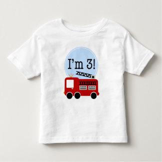 de 3de Vrachtwagen van de Brand van de Verjaardag Kinder Shirts
