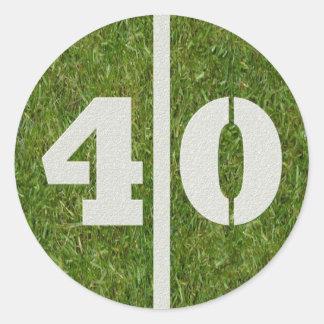 de 40ste Sticker van het Football van de