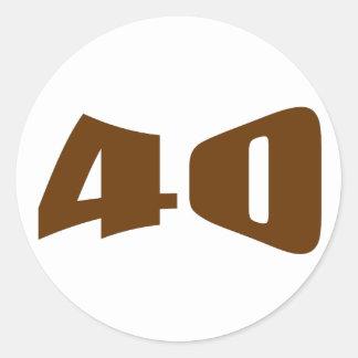 de 40ste Uitnodiging van het Jubileum Ronde Sticker