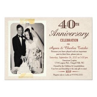 de 40ste Uitnodiging van het Jubileum van het