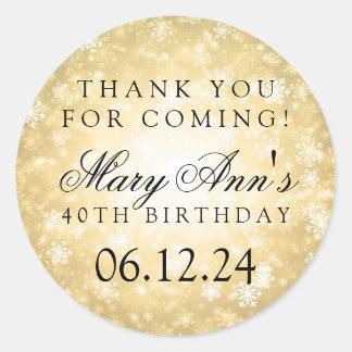 de 40ste Verjaardag dankt u het Gouden Ronde Sticker