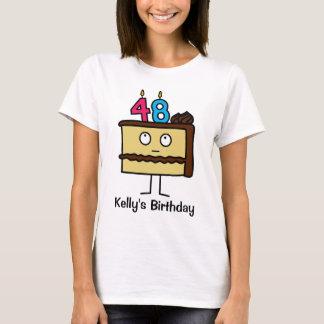 de 48ste Cake van de Verjaardag met Kaarsen T Shirt