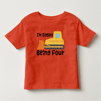 de 4de Peuter van de Vrachtwagen van de Bouw van Kinder Shirts