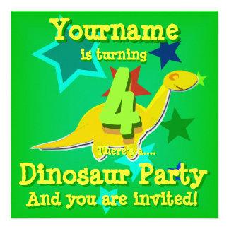 de 4de Uitnodigingen van de Partij van de Dinosaur