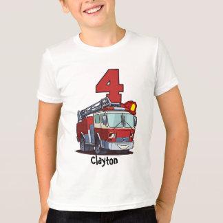 de 4de Vrachtwagen van de Brand van de Verjaardag T Shirt