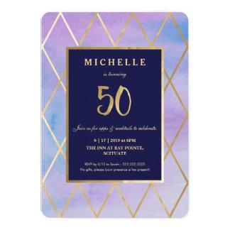 de 50ste Gouden Uitnodiging van de Verjaardag -,