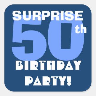 de 50ste Marine van de Partij van de Verjaardag Vierkante Sticker